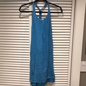 Alice & olivia blue summer silk dress